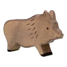 product-Holztiger Wooden Boar Figurine
