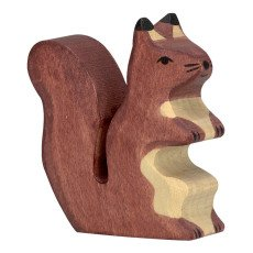 product-Holztiger Wooden Squirrel Figurine