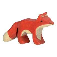 product-Holztiger Small Wooden Fox Figurine