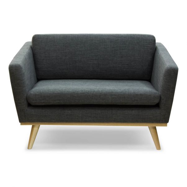 120 Sofa Flecked Fabric Three Seater With Oak Base Product
