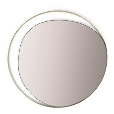 product-Red Edition Miroir Ellipse, verre et laiton, diam 80 cm