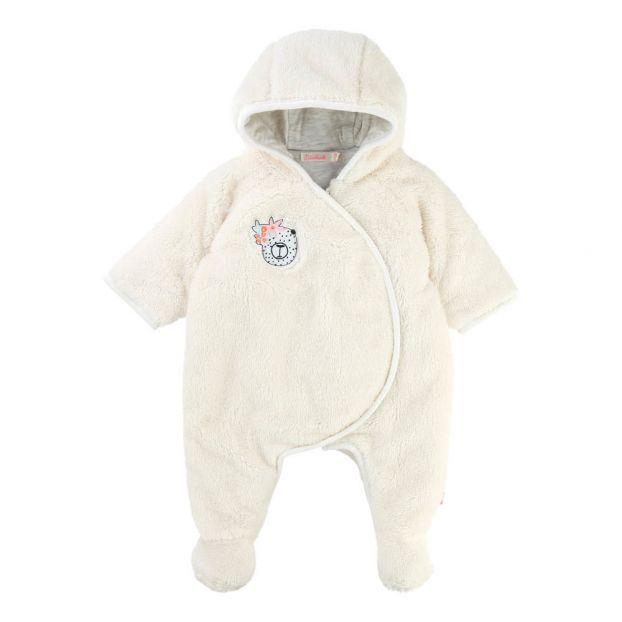 5b39c7da5 Faux Fur Hooded Snowsuit Ecru Billieblush Fashion Baby