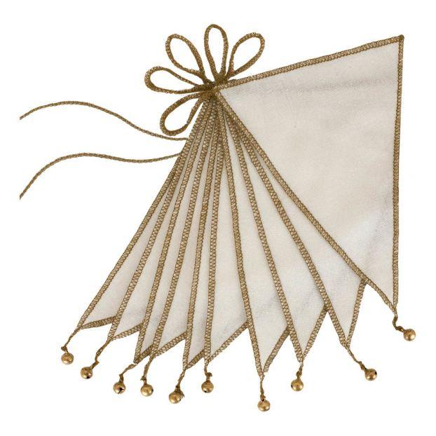 en bois Étoile Fanion Chaîne Fanion Guirlande Decoration Guirlande consécutifs Guirlande
