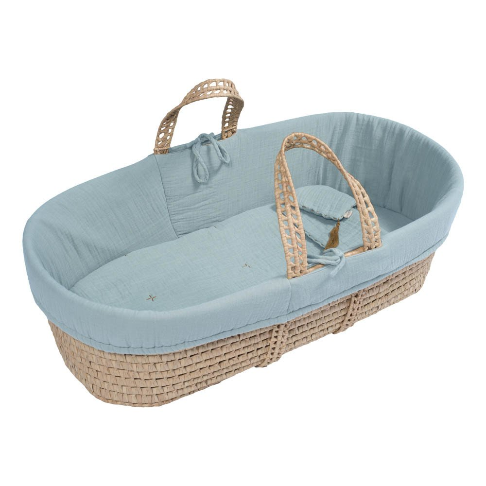 Moses Basket, Mattress & Bedding Sweet Blue S046 Numero 74 ...