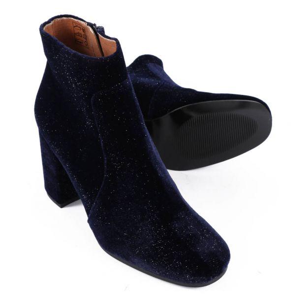 Sessun Bleu Boots Chaussure Velours Paillettes Nuit Slow Adulte znq6H6X1