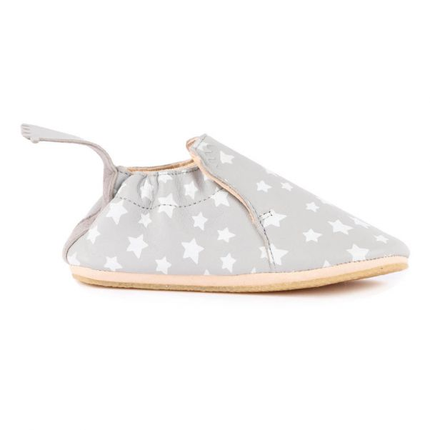 71d25870ed11ac BluBlu Star Leather Slippers Grey Easy Peasy Shoes Children