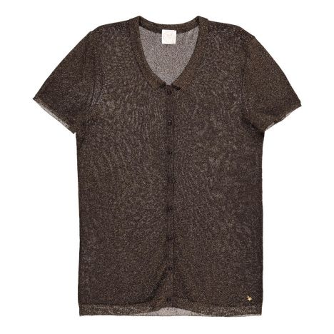 Pullover Hemd Mit Pailletten Crocus Schwarz Des Petits Hauts Mode