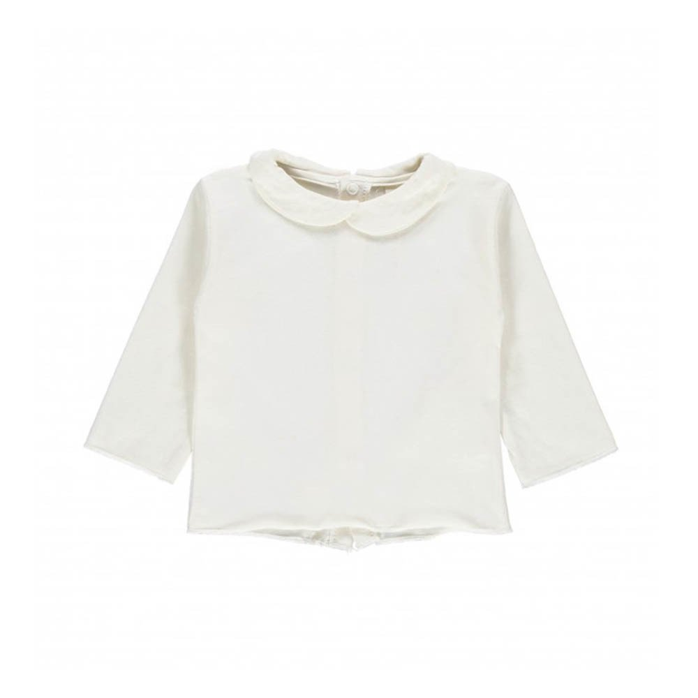 aabcc236c003 Organic Cotton Peter Pan Collar T-Shirt Ecru Gray Label Fashion. «