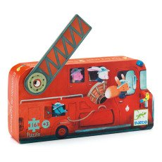 product-Djeco Fire Engine Puzzle - 16 Pieces