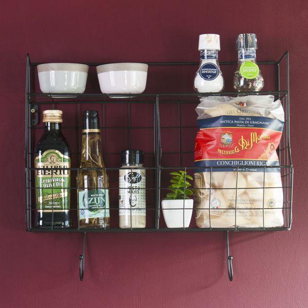Mensola da cucina Nero Present Time Design Adulto