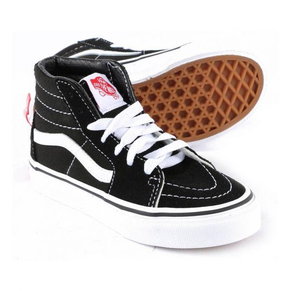 Classic Hi Baskets Montantes Chaussure Vans Noir Sk8 Adolescent jR4qc35ALS