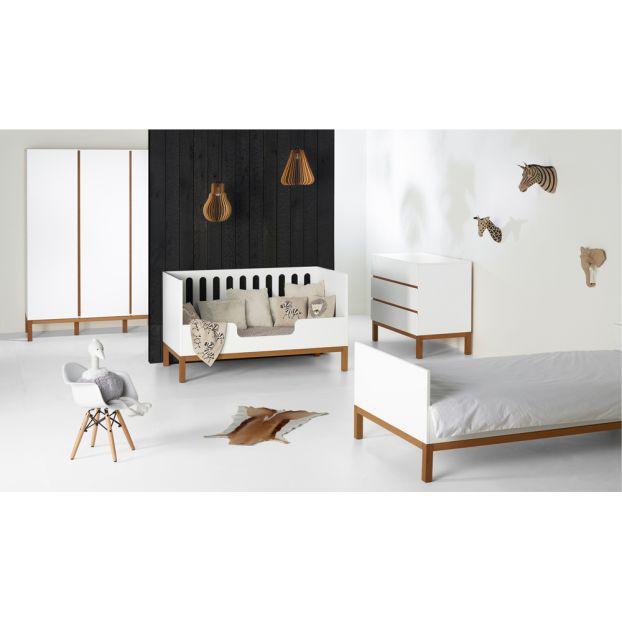 Kommode mit 3 Schubladen Indigo Weiß Quax Design Baby , Kind