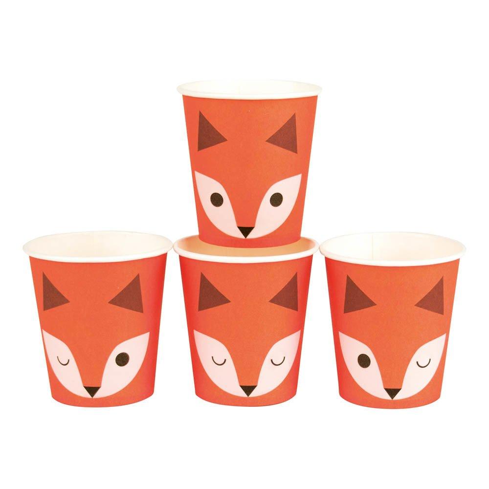 Gobelets en carton Mini fox - Lot de 8
