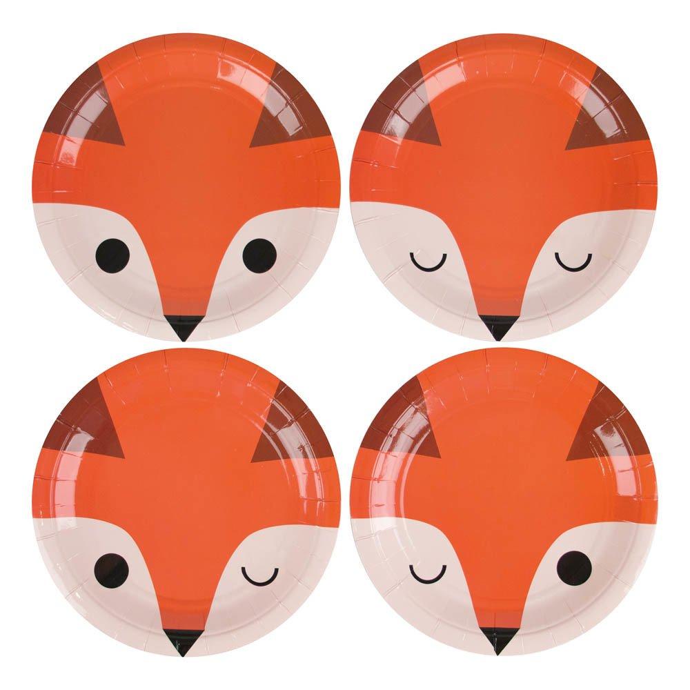 Assiettes en cartons Mini fox - Lot de 8