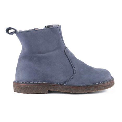 Boots Zippées Suede Fourrées Bleu marine Pèpè Pèpè Pèpè Chaussure 007867