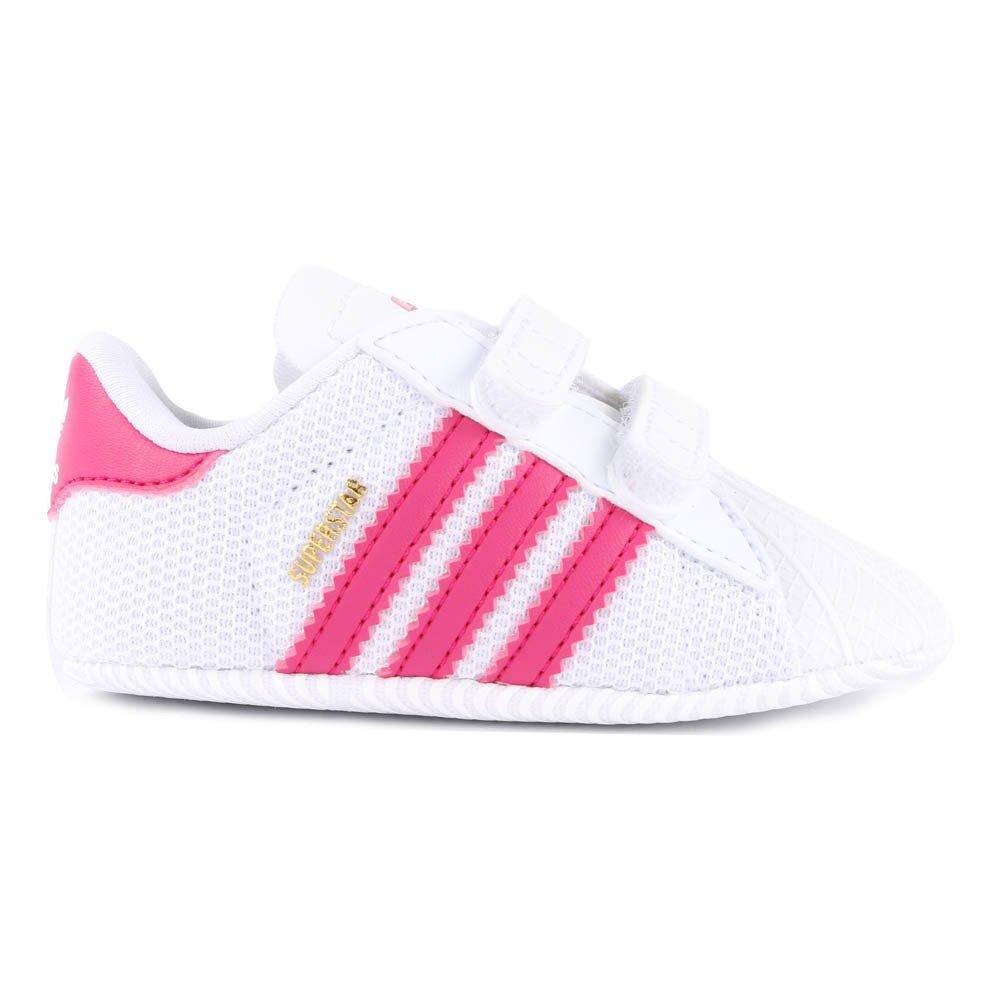 Crib Superstar Velcro Slippers Pink