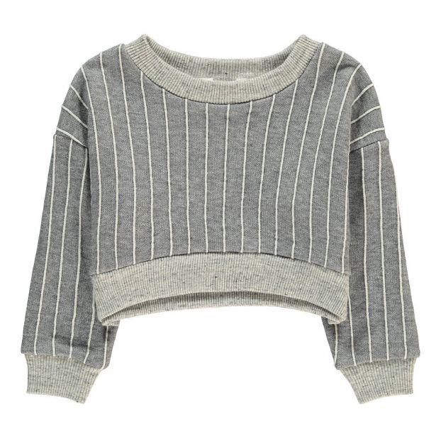 5e4ba21331a5a9 Jazz Crop Sweatshirt Light grey Atelier Barn Fashion Teen ,