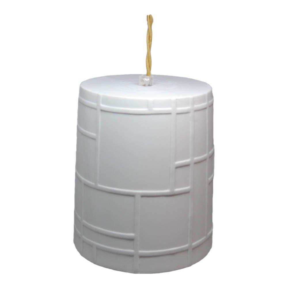 Lampada a sospensione Reverso in porcellana Monde, D15 cm cordon 1,5 m