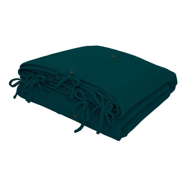 housse de couette en coton bio teal blue s022 numero 74 design. Black Bedroom Furniture Sets. Home Design Ideas