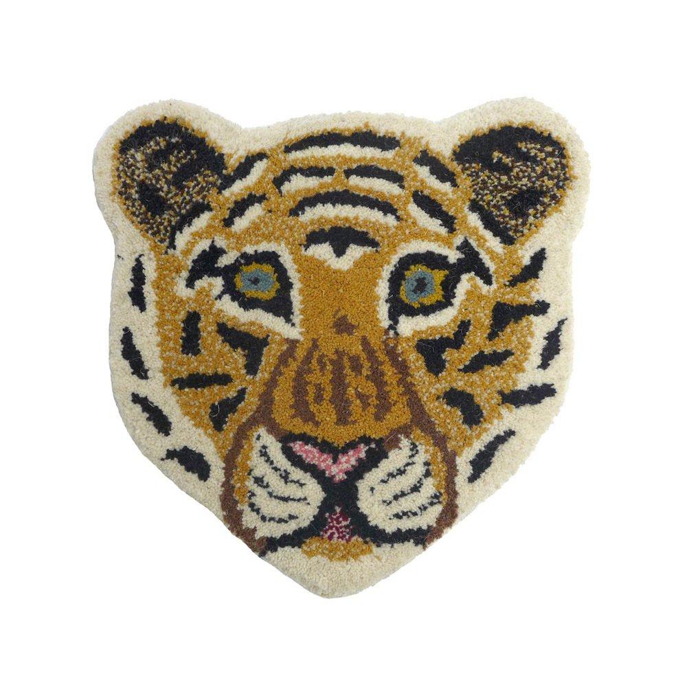 Tapis tête de léopard 32x32 cm