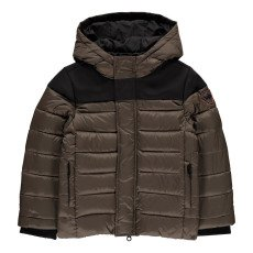 product-Gertrude + Gaston Little Berthy Neoprene Hooded Down Jacket