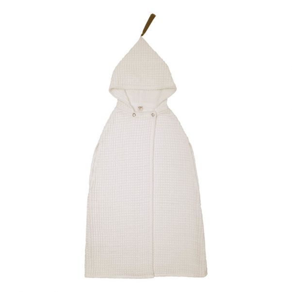 Childrens Organic Cotton Poncho Dressing Gown Natural S000
