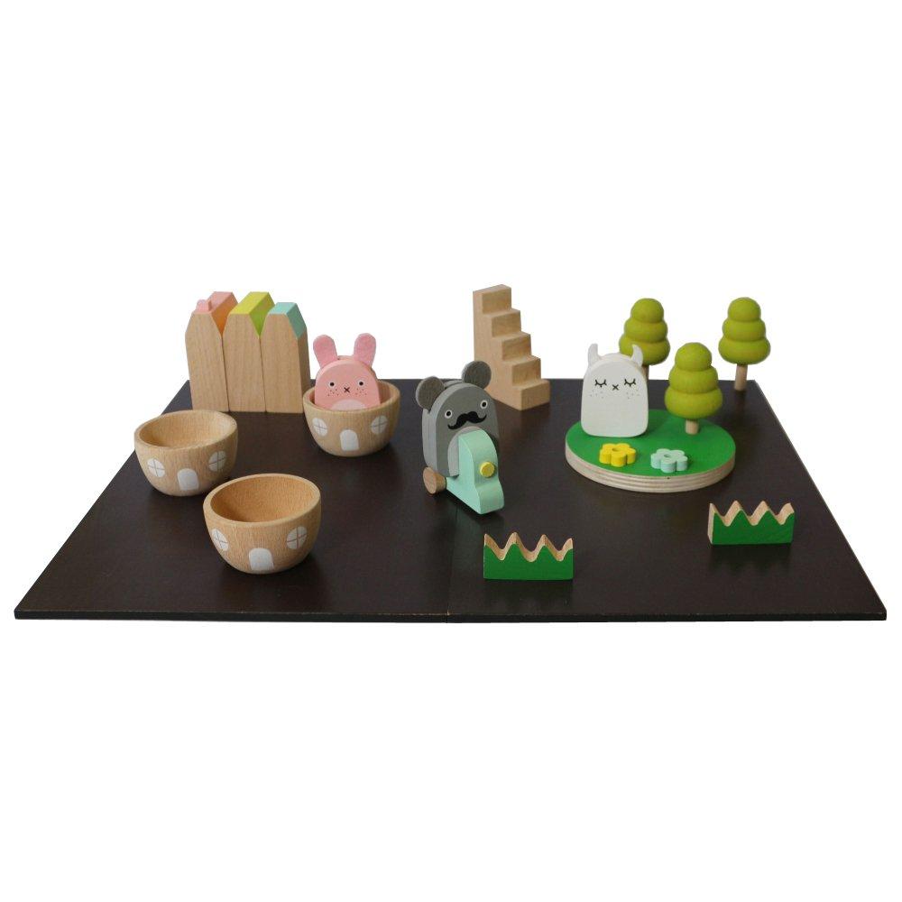 Gioco in legno magnetico Noodoll x Kiko+ - Set da 21 pezzi