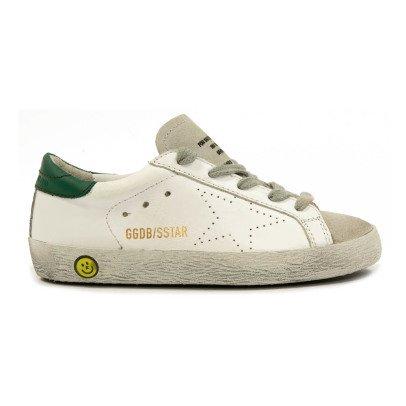 5cf0e23dba7 golden goose deluxe brand zapatillas cuero parte trasera superstar blanco