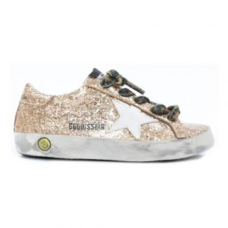 0145ae0b614f1e Golden Goose Deluxe Brand Baskets Basses Glitter Lacets Leopard  Superstar-listing