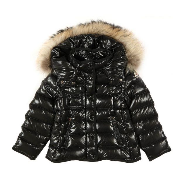 aaadd0ff29c63 Armoise Fur Lined Hooded Jacket Dark grey Moncler Fashion Teen ,