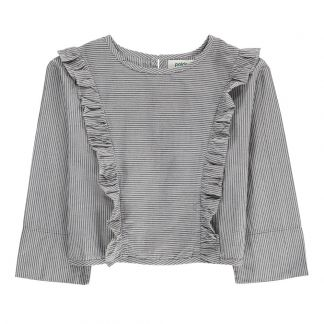 68dc42090407 Polder Girl Cassis Ruffle Striped Blouse-listing