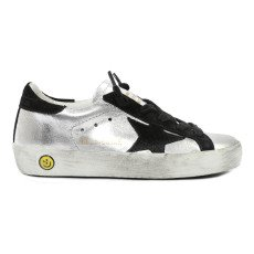 product-Golden Goose Deluxe Brand Baskets Lacets Cuir Silver Superstar