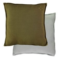 product-Camomile London Green-Pale Blue Reversible Cushion