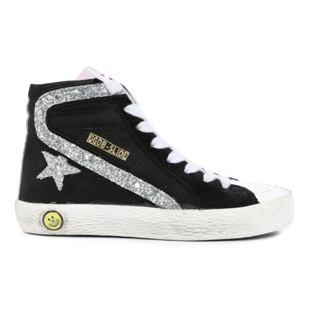 d36b37620a81 Golden Goose Deluxe Brand. Slide Glitter Zip-Up Trainers Black