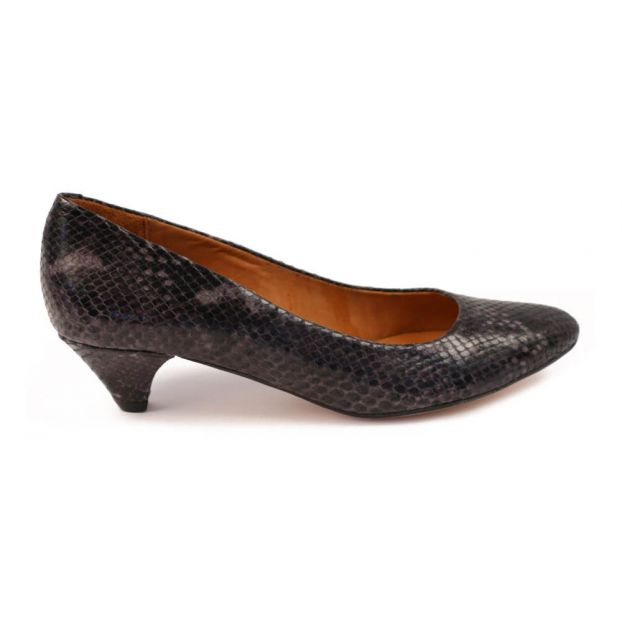 2a182e315bc0 Escarpins Python Ida Bleu marine Anthology Paris Chaussure Adulte