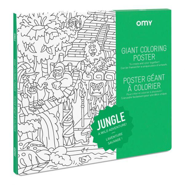 Póster gigante para colorear Jungla Omy Juguetes y Hobby