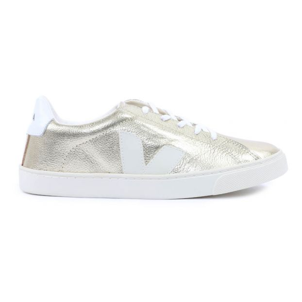 81b24b1b5a62 Esplar Lace-Up Leather Trainers Gold Veja Shoes Teen