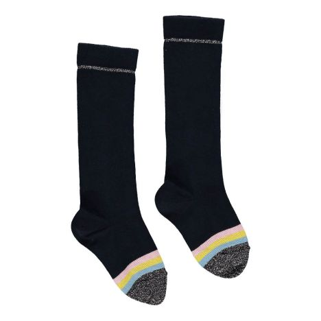 2ca87500188 Billi Lurex Knee Socks Midnight blue Simple Kids Fashion Teen
