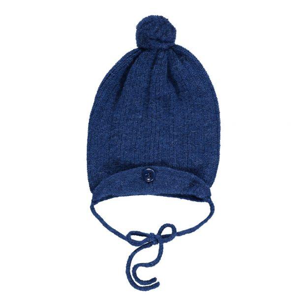 908a580f802 Sol Alpaca Wool Pompom Hat Indigo blue Aymara Fashion Baby