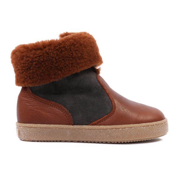 Chaussure Fourrées Boots Bi Enfant Marron Pèpè Matières XxxAwq6