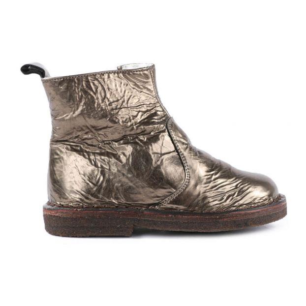 c6f7384e46da7 Bottines Fourrées Zippées Glacées Mordoré Pèpè Chaussure