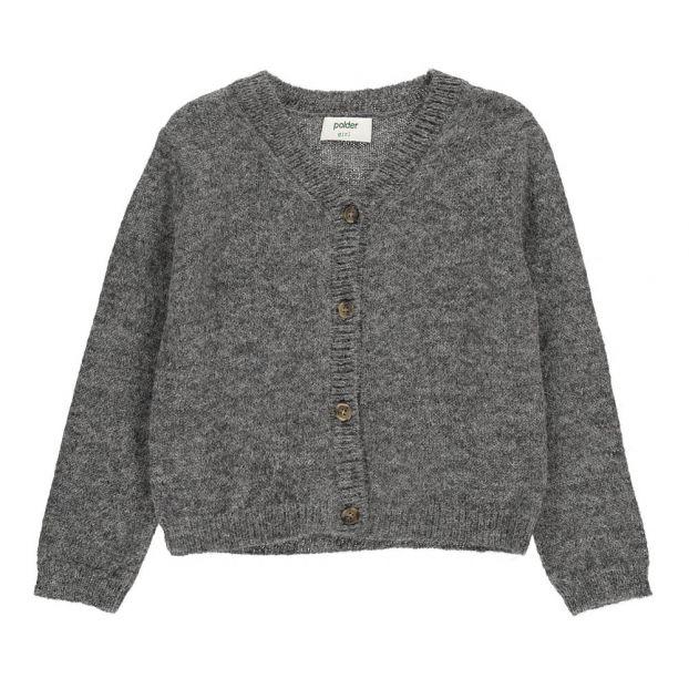 018392ded69 Cloé Alpaca Wool Cardigan Heather grey Polder Girl Fashion Teen