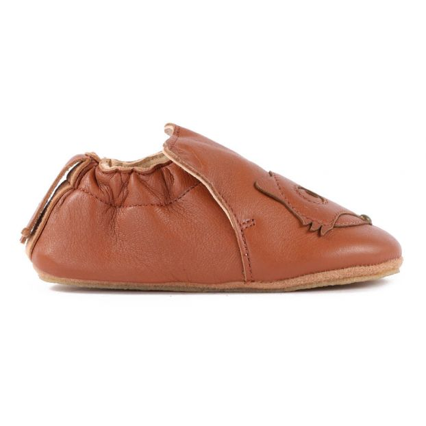 a92f642d9b6ec2 BluBluFox Leather Slippers Cognac Easy Peasy Shoes Baby