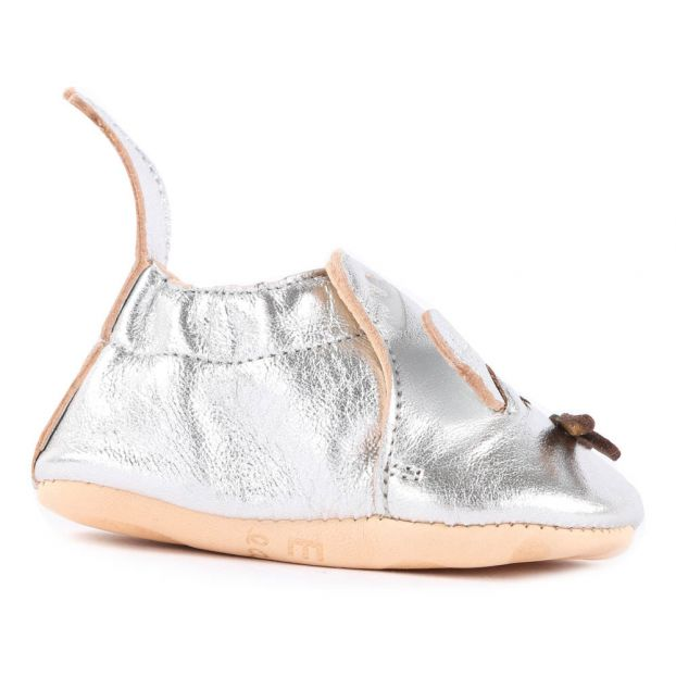 dc0133768eec92 Blumoo Mouse Metallic Leather Slippers Silver Easy Peasy Shoes