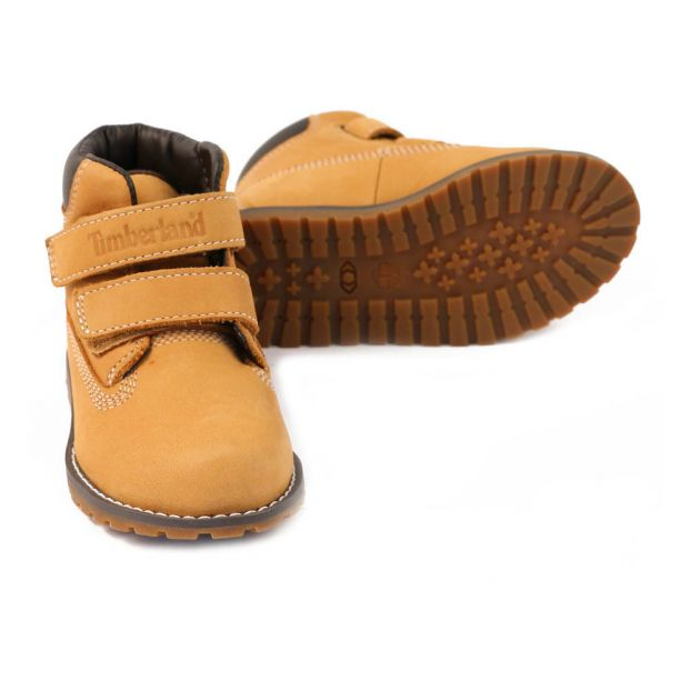 30e0b612486 Pine Pokey Velcro Boots Camel Timberland Shoes Baby , Children