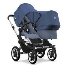 product-Bugaboo Poussette Donkey² duo complète chassis alu/bleu chine/bleu azur