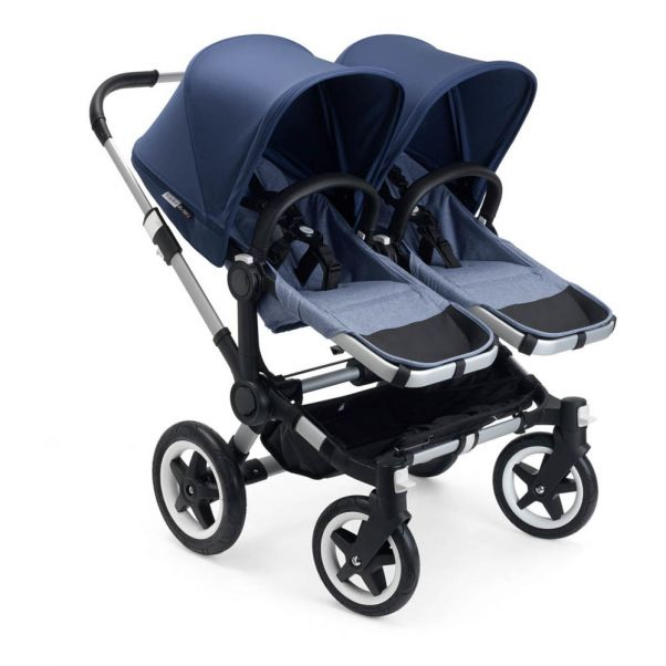 Donkey Complete Twin Pushchair Azure Blue Bugaboo Design Baby
