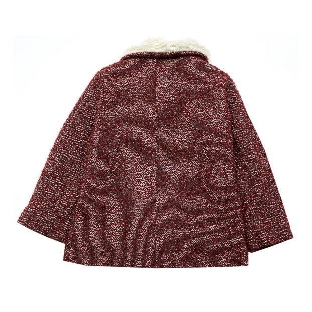a12049217e Cappotto Tweed Bordeaux Hundred Pieces Moda Teenager , Bambino