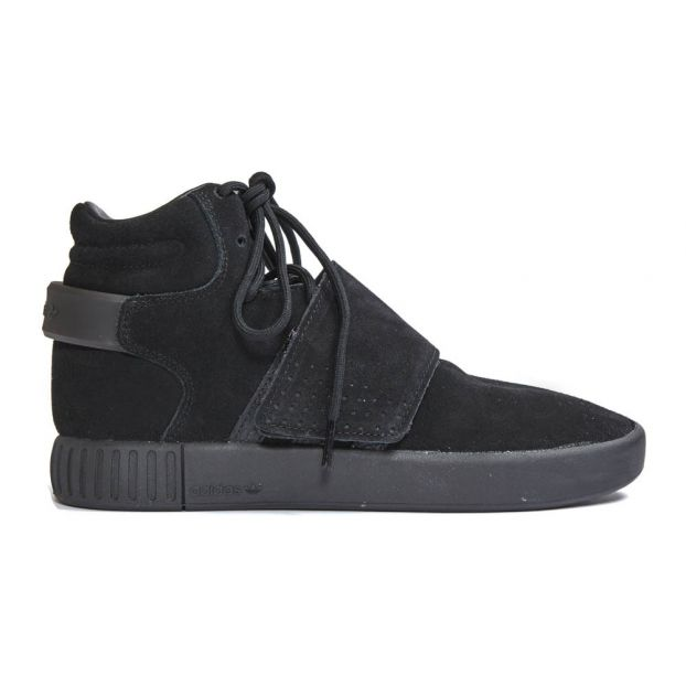 e08226f7eb77 Invader Tubular Lace-Up Trainers Black Adidas Shoes Teen