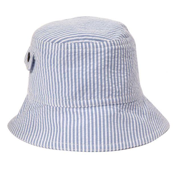 bafba7e33 Seersucker Bucket Hat Blue